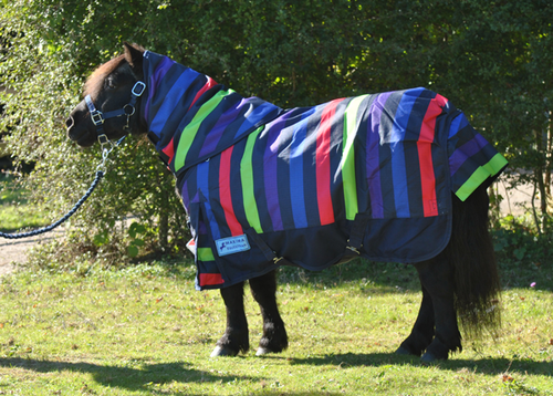1200 DENIER SHETLAND PONY / DONKEY / MINI MEDIUMWEIGHT DETACHABLE NECK TURNOUT RUG