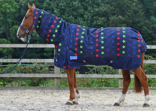 1200 DENIER HEAVYWEIGHT COMBO TURNOUT RUG - MULTI STAR