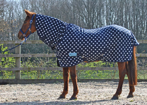 COMBO NAVY STAR FLEECE RUG - STANDARD SIZES