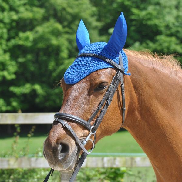 Royal Blue Fly Veil Plain Maxima Equestrian