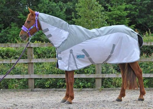 WATERPROOF COMBO FLY RUG WHITE/GREY