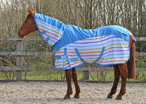 WATERPROOF COMBO FLY RUG MULTI STRIPE