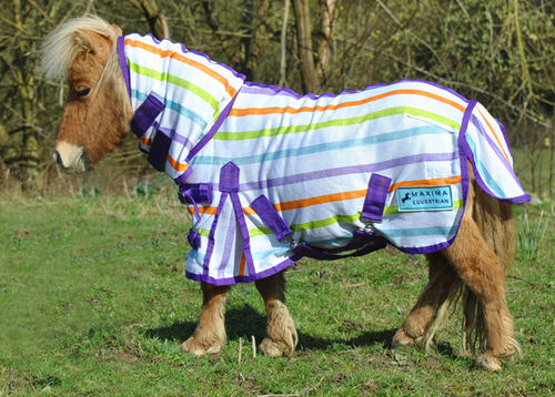 MULTI STRIPE COMBO FLY RUG - SHETLAND SIZES