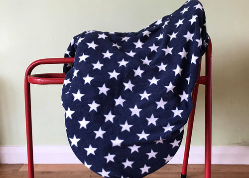 MAXIMA FLEECE SADDLE COVER - NAVY WITH WHITE STARS