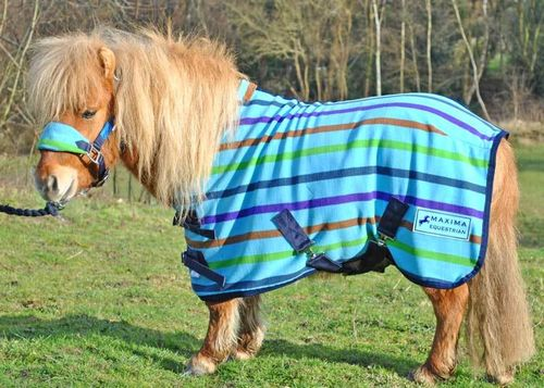 MULTI STRIPE FLEECE RUG - SHETLAND SIZES