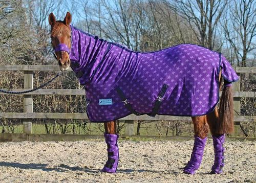 COMBO PURPLE STAR FLEECE RUG - STANDARD SIZES