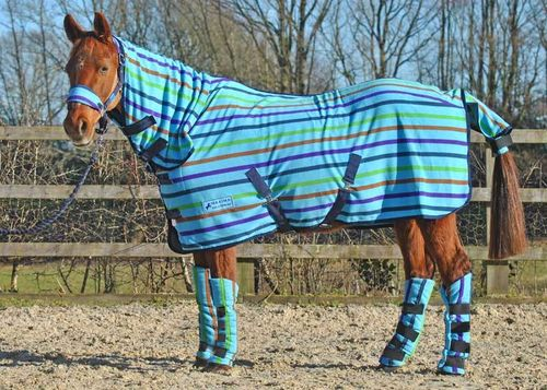 COMBO MULTI STRIPE FLEECE RUG - STANDARD SIZES