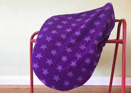 MAXIMA FLEECE SADDLE COVER - PURPLE STAR