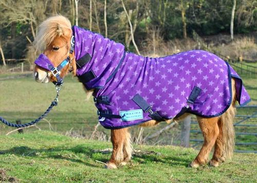 COMBO PURPLE STAR FLEECE RUG - SHETLAND SIZES