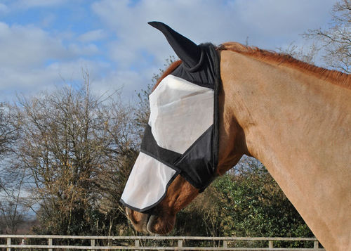 FULL FACE FLY MASK WITH NOSE & LYCRA EARS