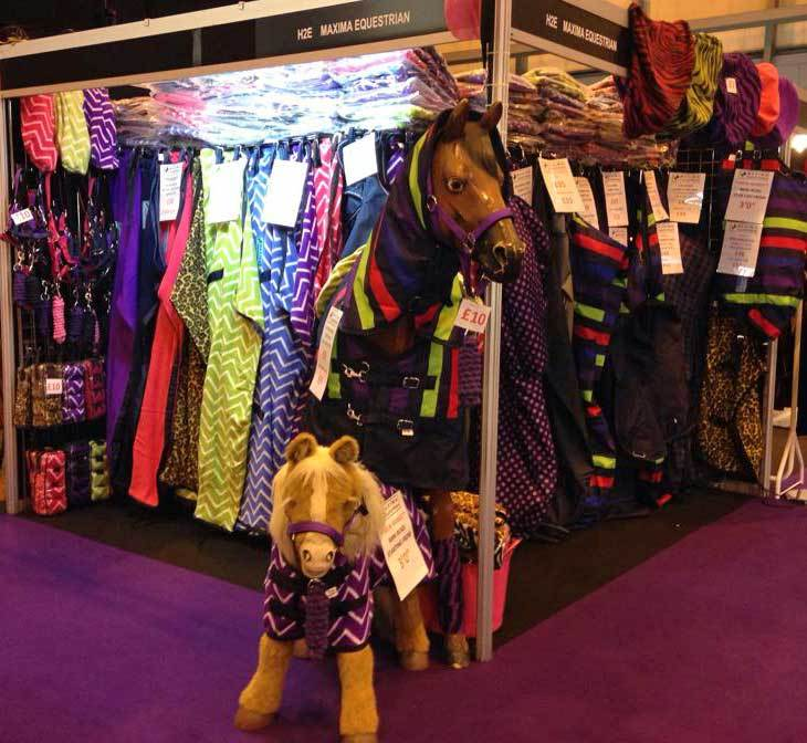 Rugs galore on the Maxima Equestrian stand at Horse of the Year Show